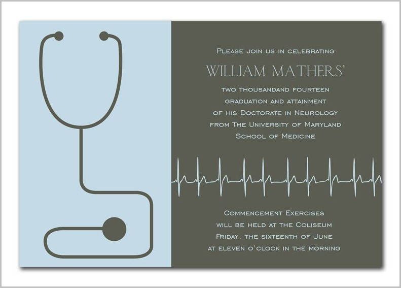 Medical Graduation Invitation Templates