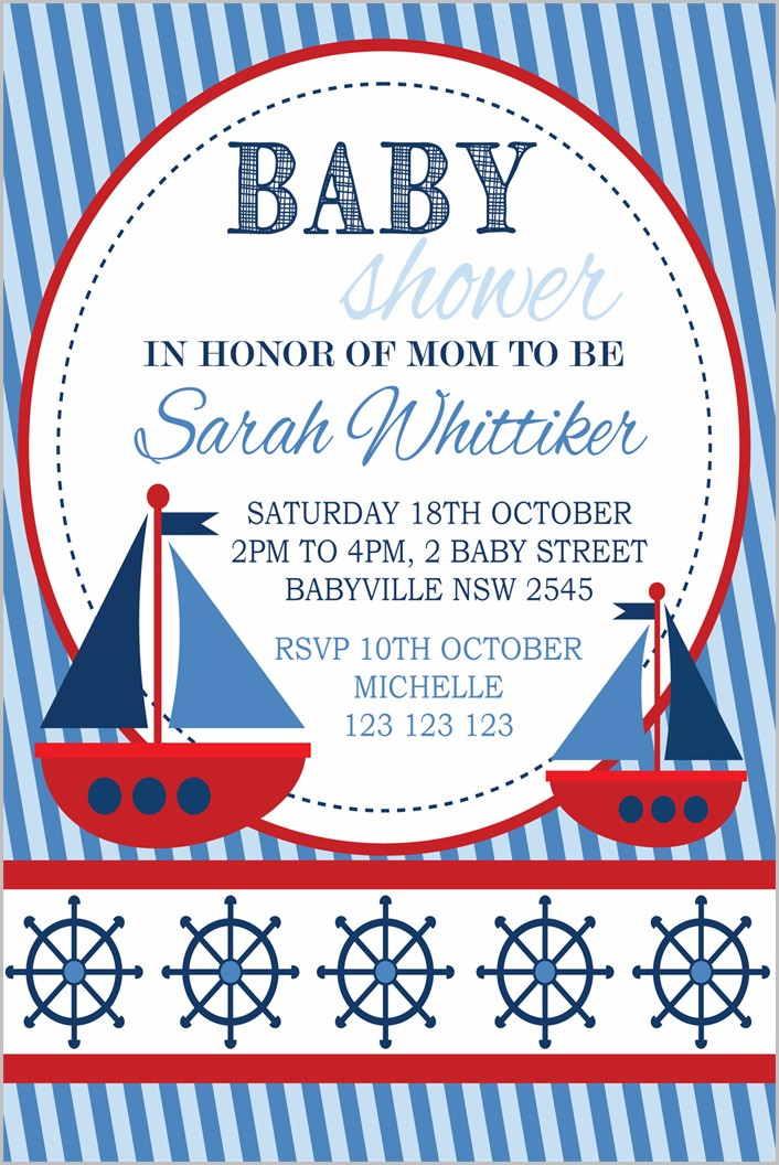 Nautical Baby Shower Invitation Templates Free