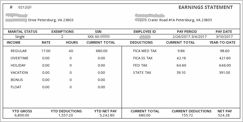 Pay Stub Template For 1099 Employee
