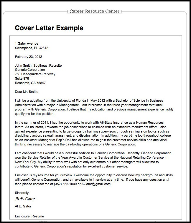 Preparing Resumes And Cover Letters
