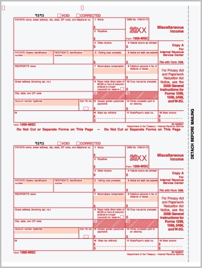 Printable 1099 Employee Form