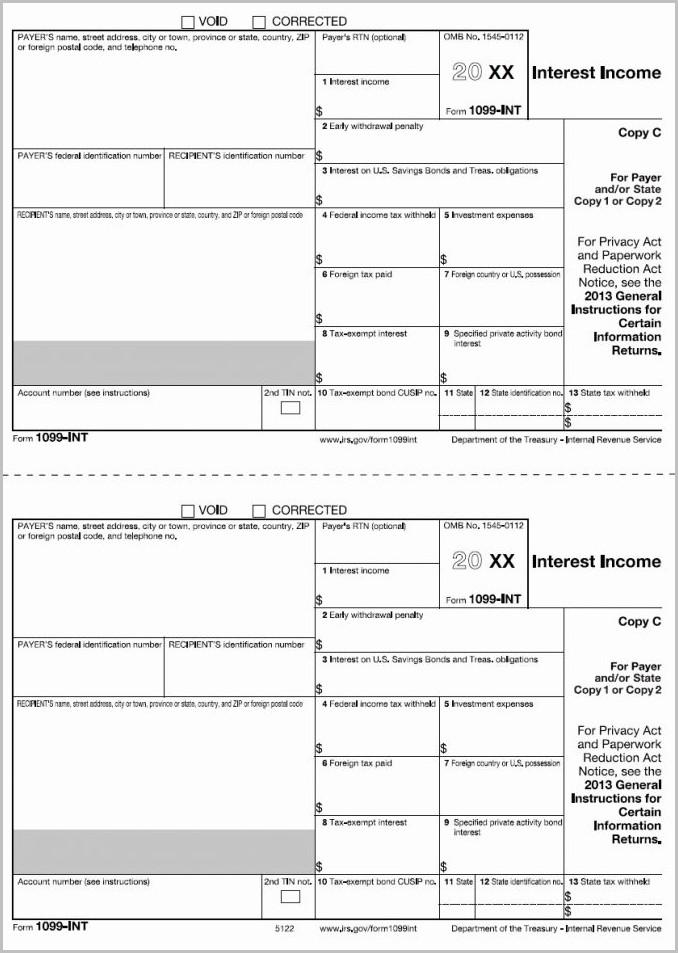 Printable 1099 Form Pdf