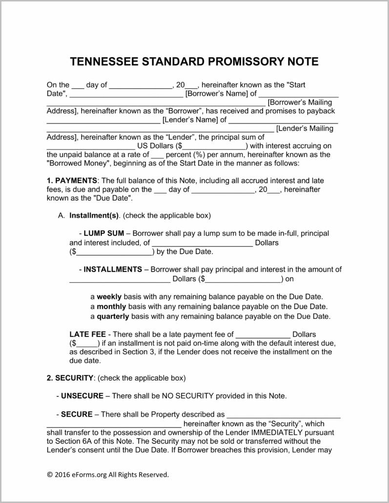 Promissory Note Formula
