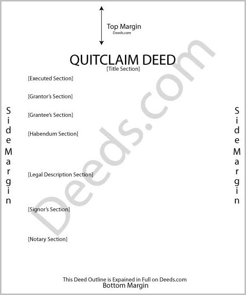Quit Claim Deed Form Ny