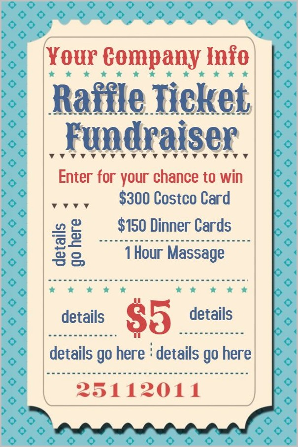 Raffle Ticket Poster Template