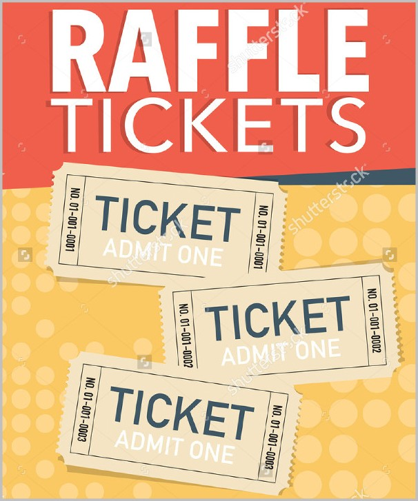 Raffle Ticket Sign Template