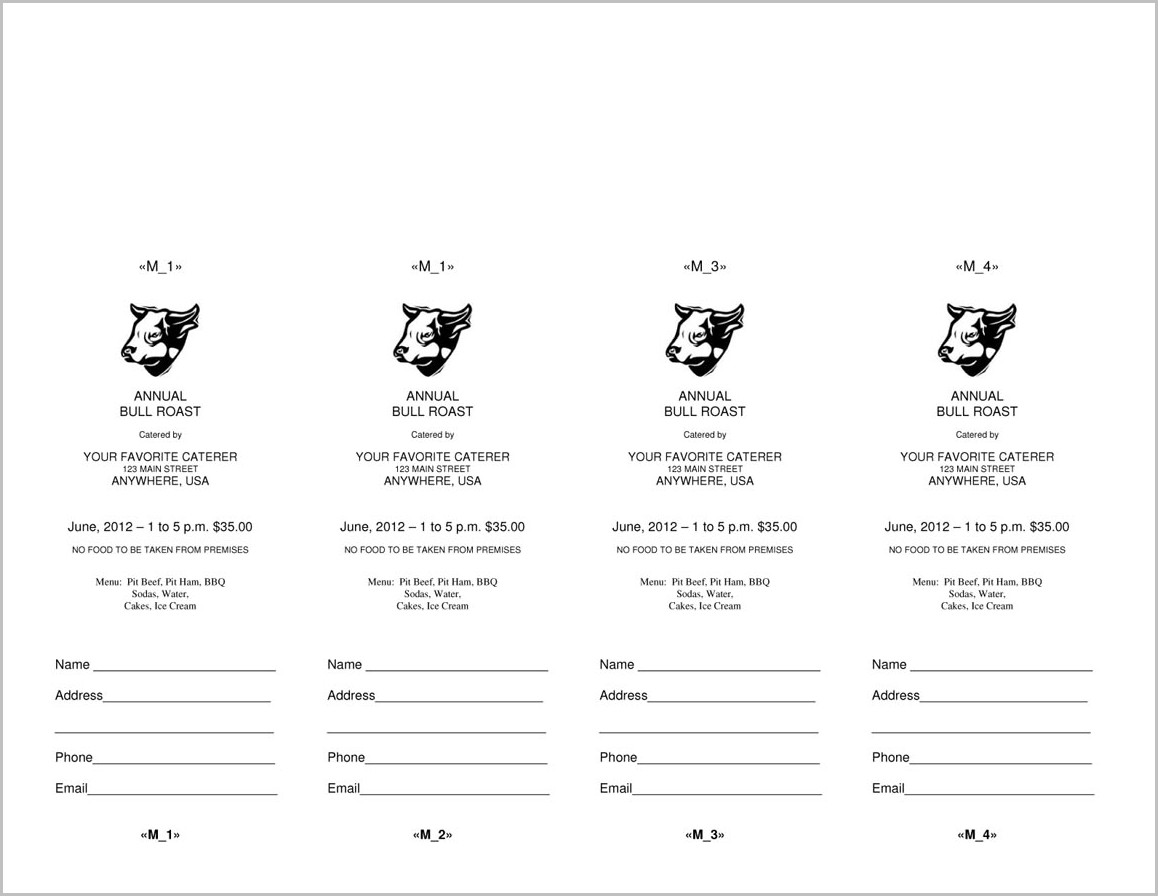 Raffle Ticket Template Microsoft Word
