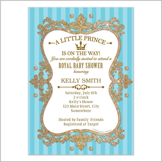 Royal Baby Shower Invitation Templates Free