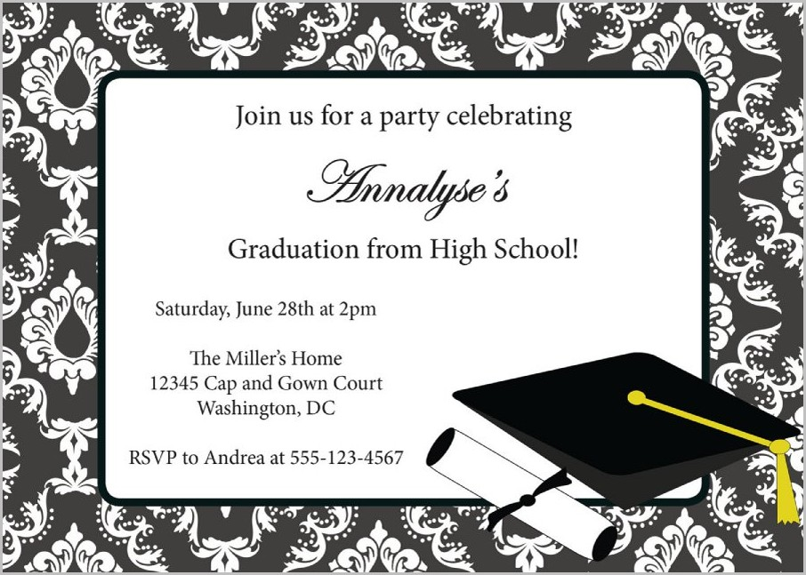 Senior Graduation Invitation Templates