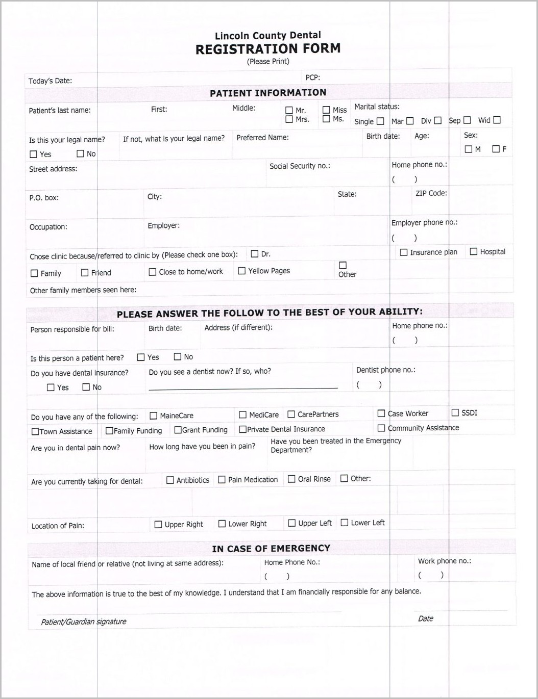 Ssi Application Form In Spanish