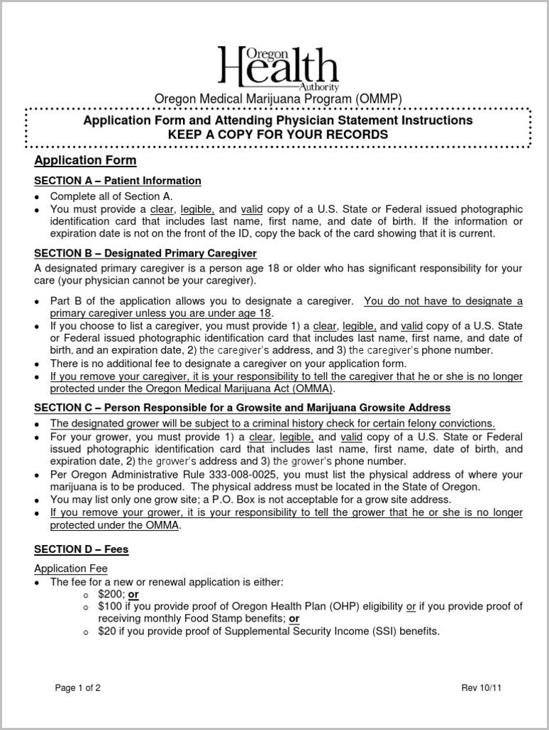 Ssi Application Form Oregon