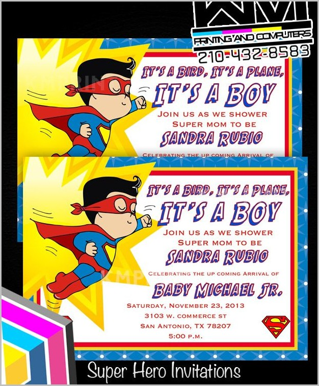 Superman Baby Shower Invitation Template