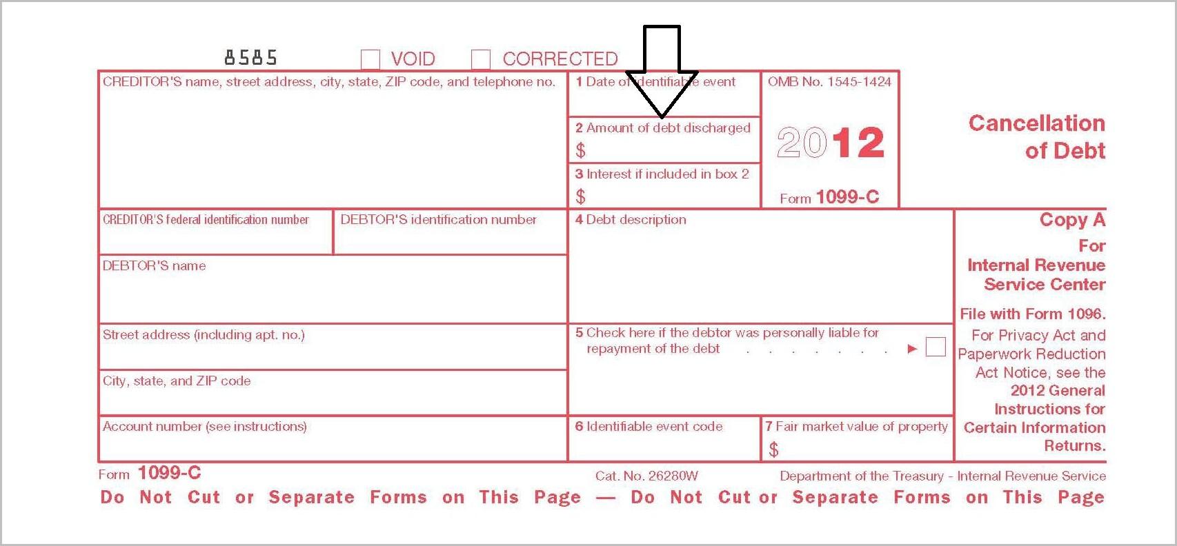 Tax Form 1099 C