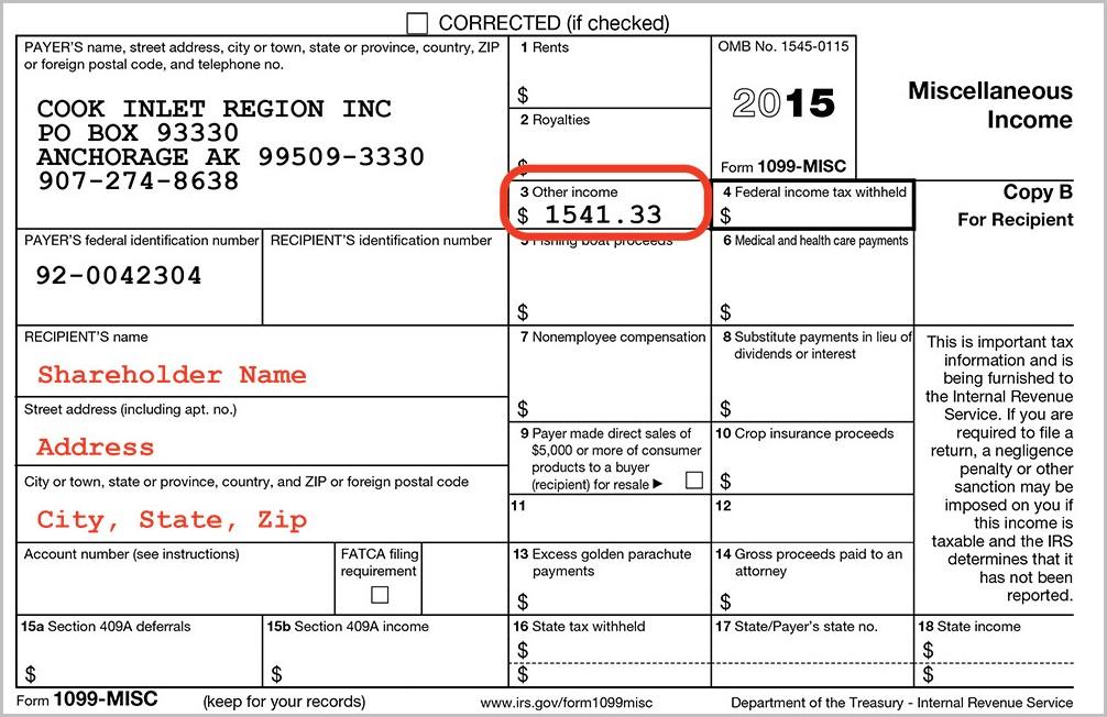 Tax Form 1099 Div