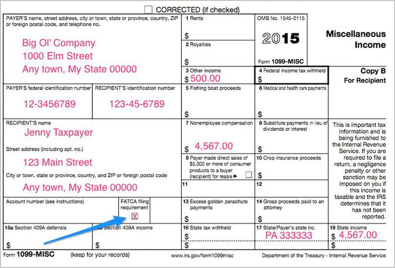 Tax Form 1099 Misc