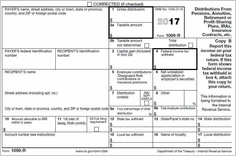 Tax Form 1099 R