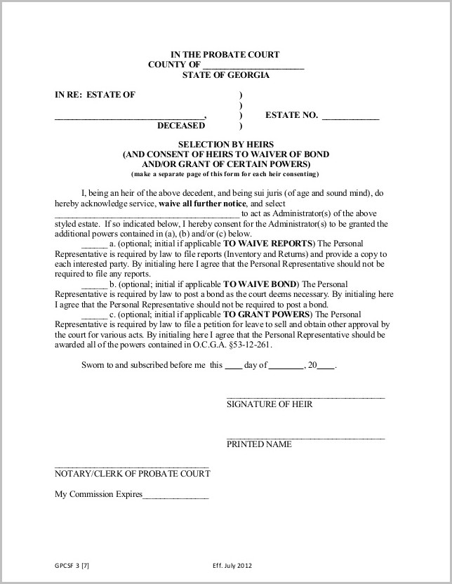 Texas Divorce Forms Waiver Of Service