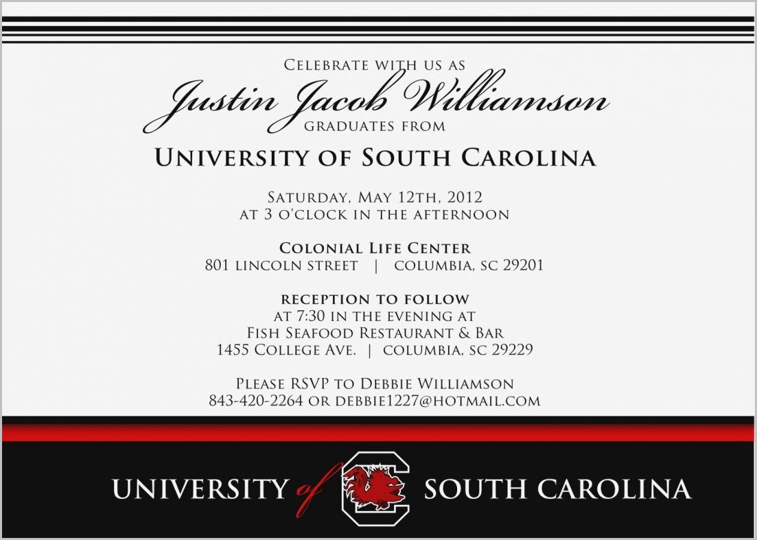 University Graduation Invitation Templates