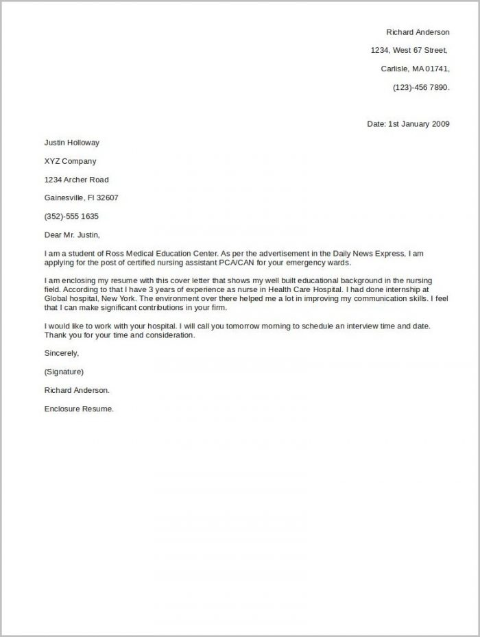 Basic Cover Letter Template For A Resume