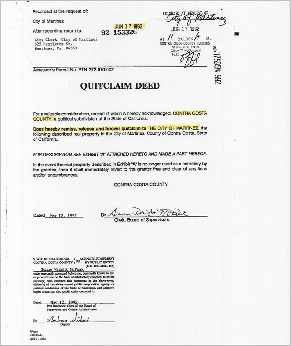 Blank Grant Deed Form For California