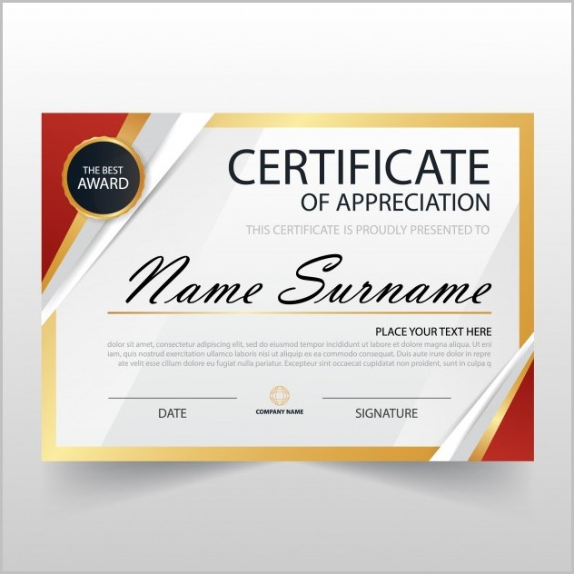 Certificate Of Appreciation Editable Template Free Download
