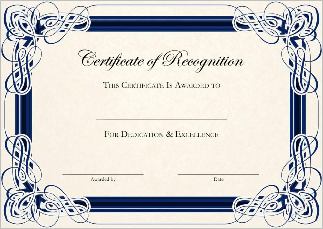 Certificate Of Appreciation Template Download