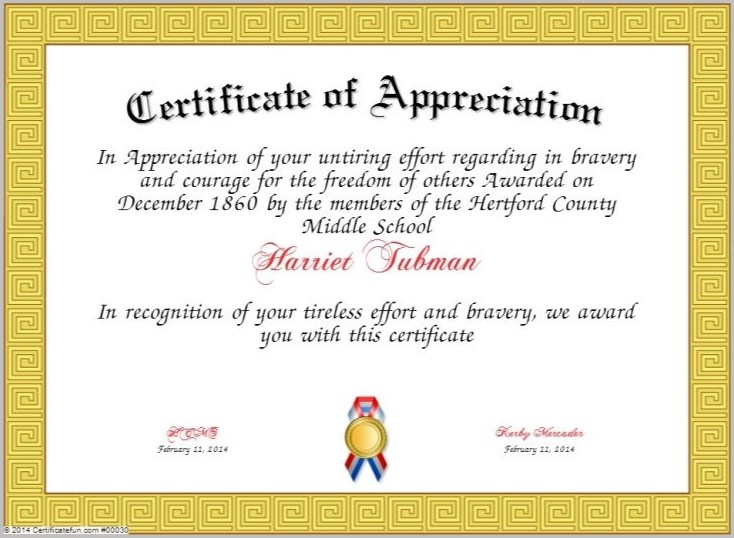 Certificate Of Appreciation Template For Pastor