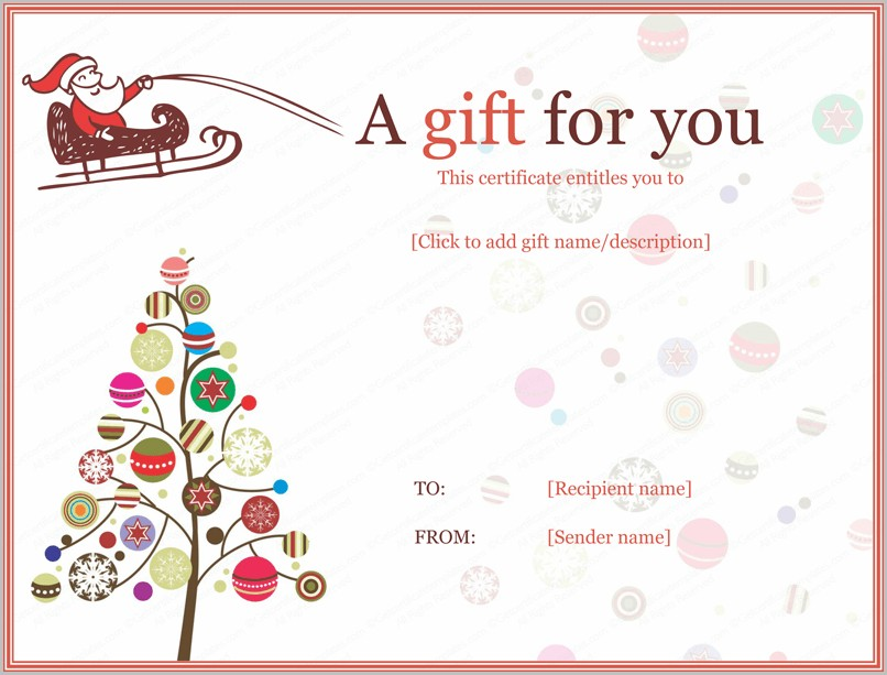 Christmas Award Certificate Template