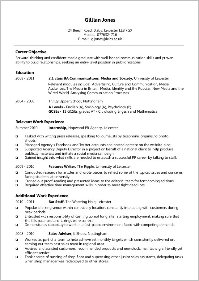 Cna Cover Letter Sample With Experience