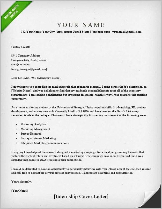 Cover Letter Examples Resume Genius