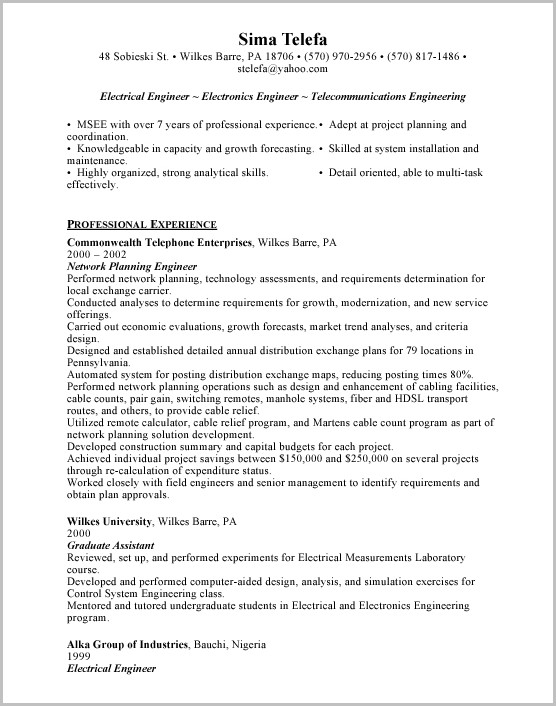 Cover Letter For Electrical Engineering Job Application Doc