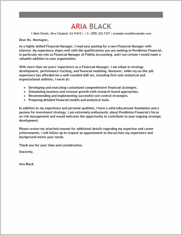 Cover Letter For Employment Examples