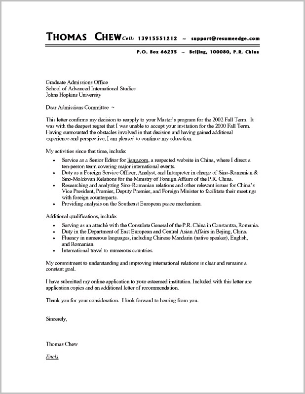 Cover Letter For Resume Examples For It