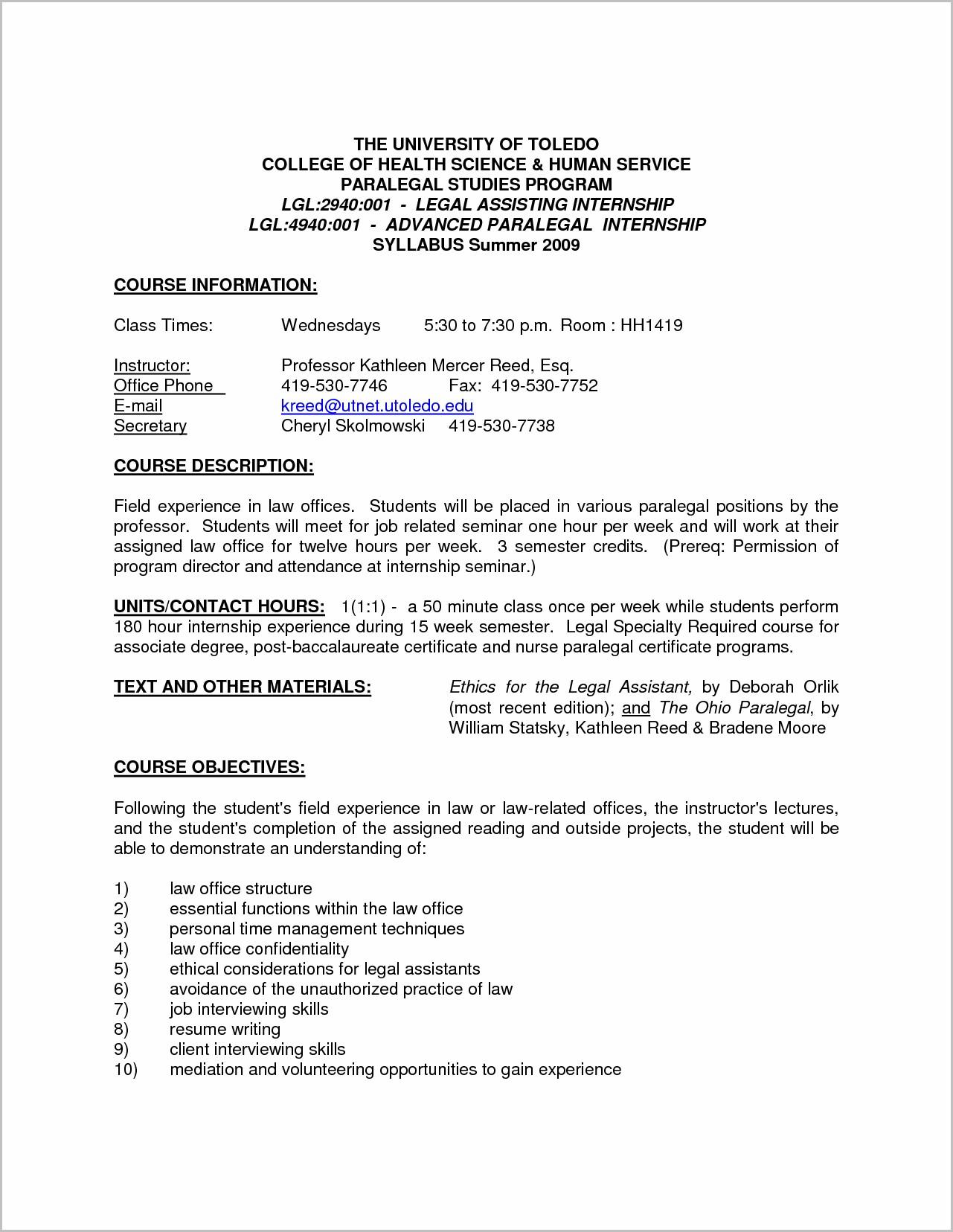 Cover Letter For Resume Legal