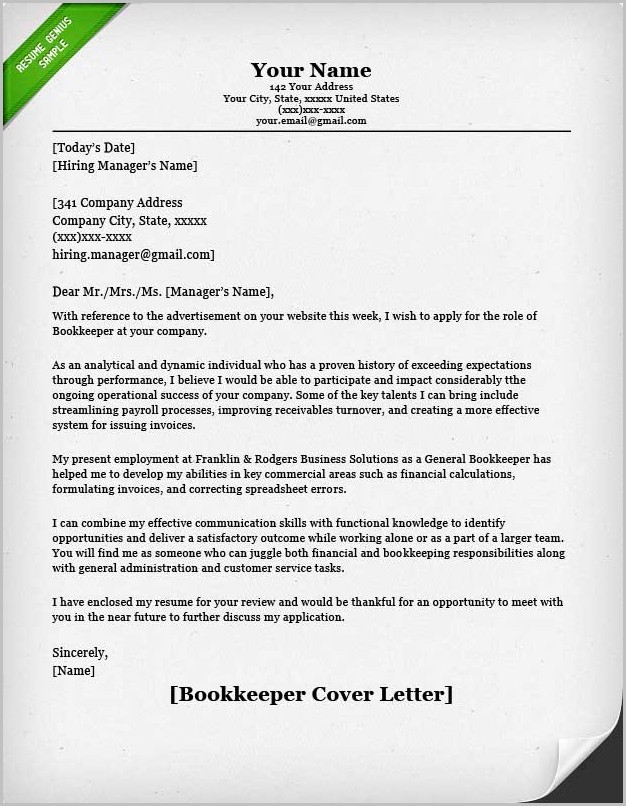Cover Letter Samples Resume Genius