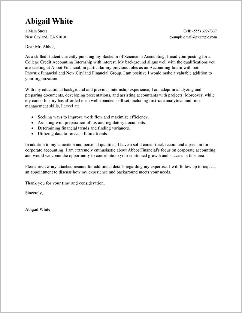 Cover Letters For Internal Job Application Examples