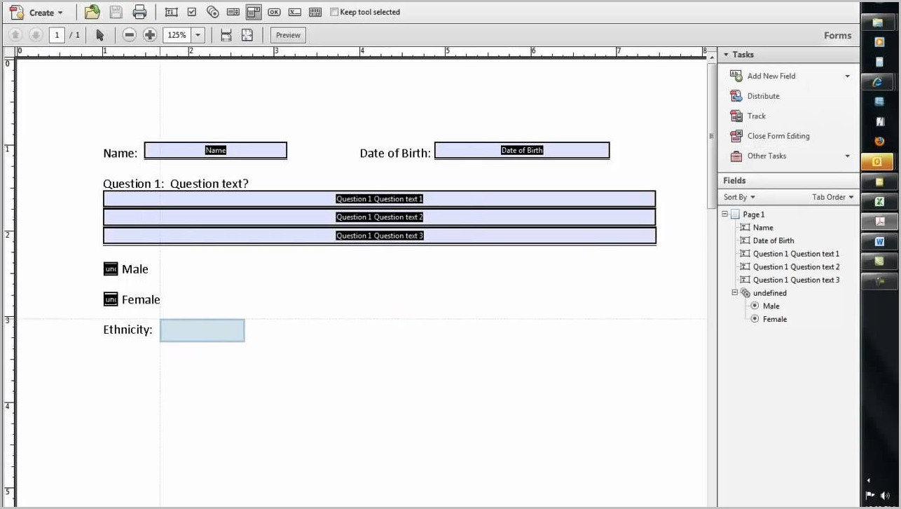Create Fillable Pdf Forms In Word 2013