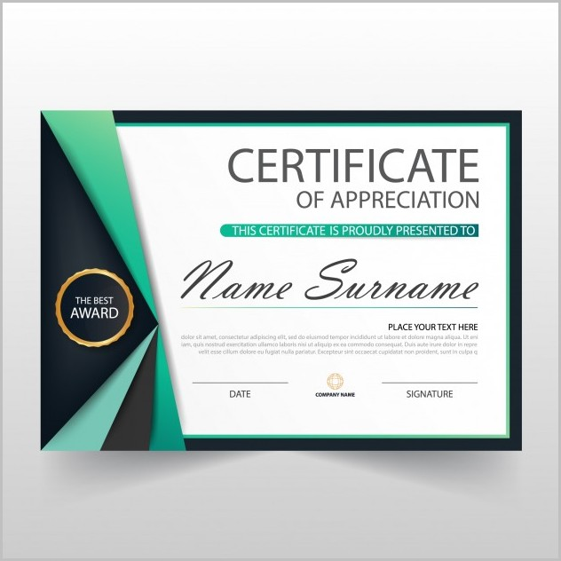 Elegant Certificate Of Appreciation Template