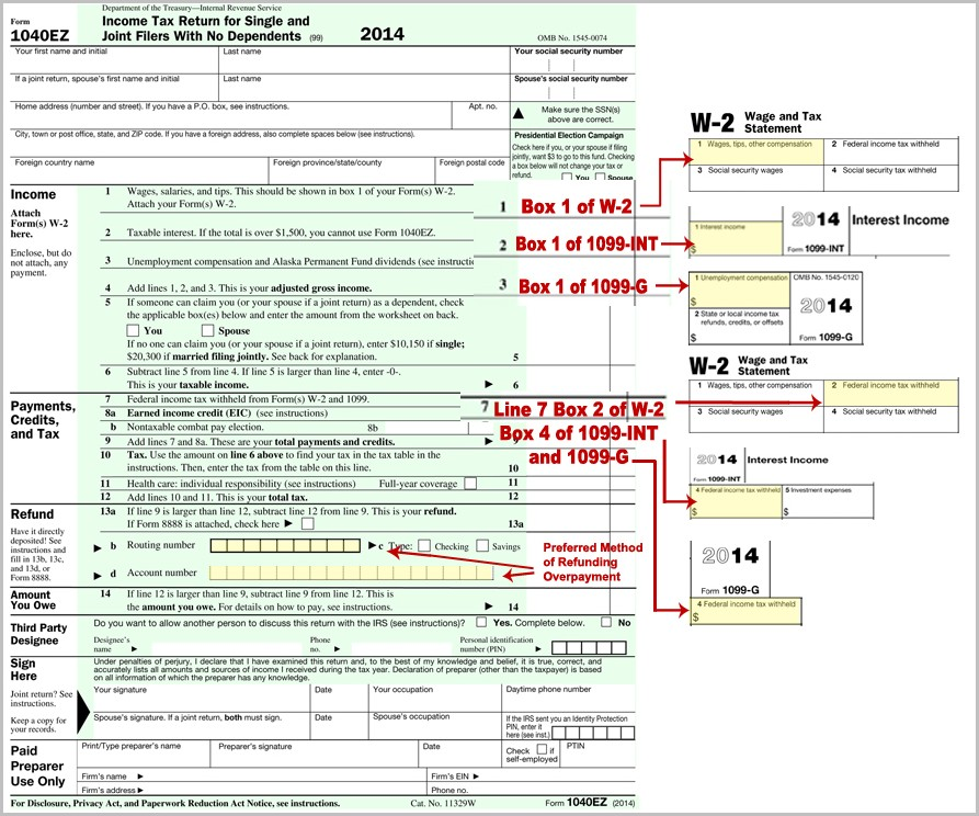 Federal Tax Form 1040ez Online Filing