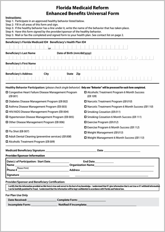 Florida Medicaid Application Form Download