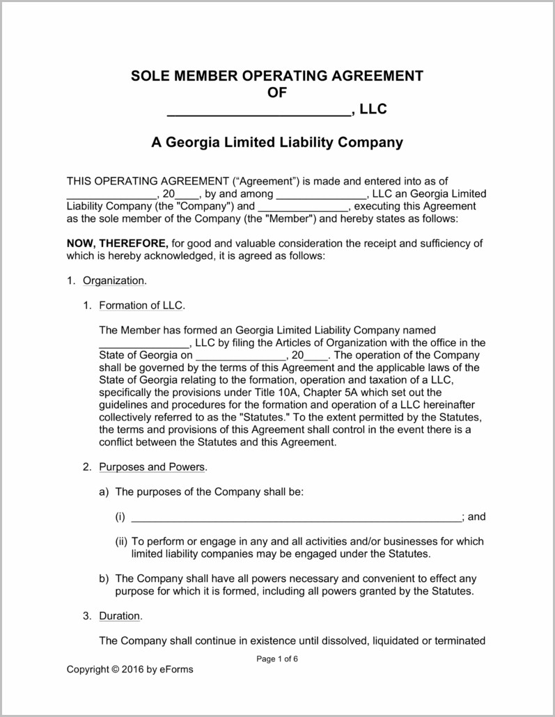 Forming An Llc In Georgia Free