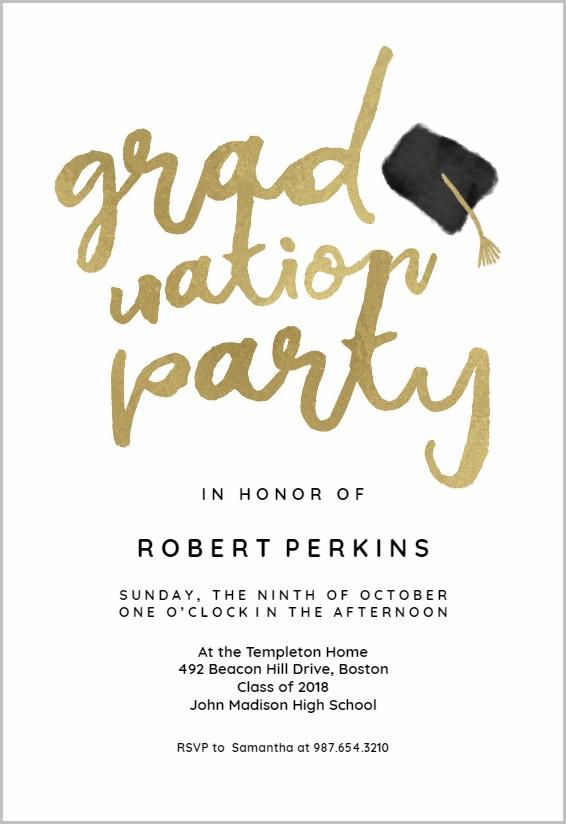 Free Online Graduation Party Invitation Templates