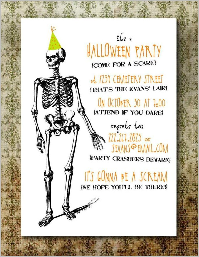 Free Online Halloween Invitation Templates