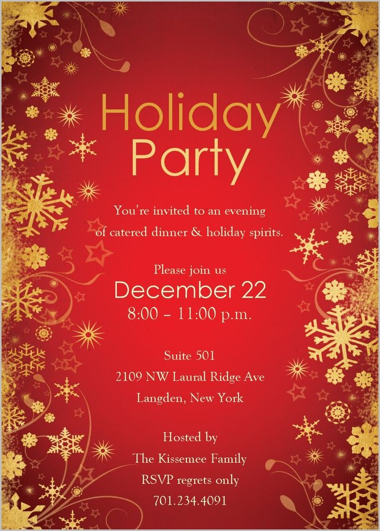 Free Online Holiday Invitation Templates