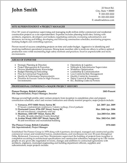 Free Resume Template Canada