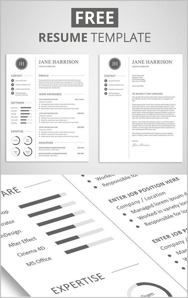 Free Resume Template Pinterest