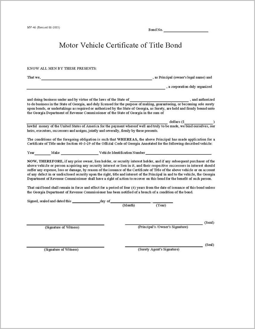 Ga Auto Lien Release Form