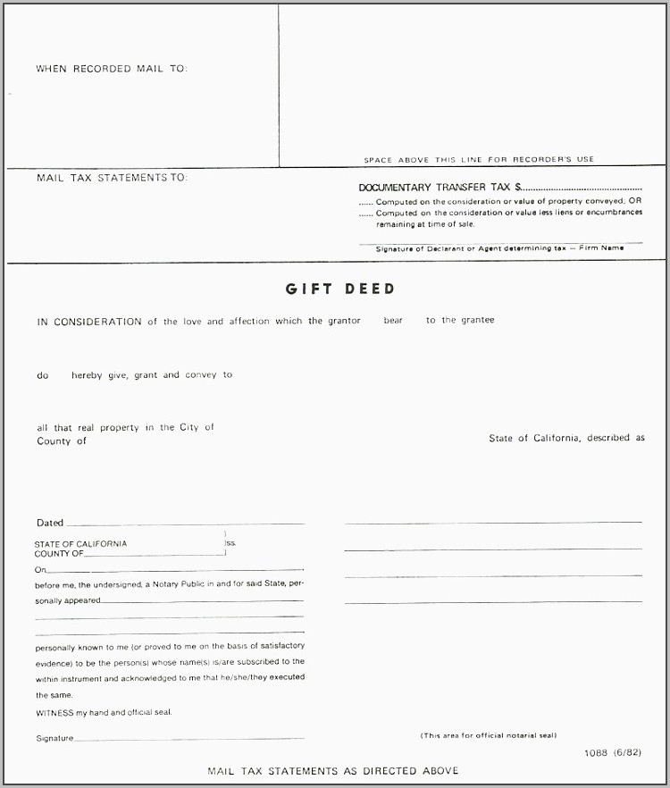 Grant Deed Fillable Form California