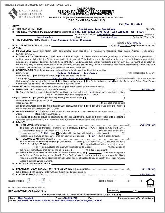 Grant Deed Form For Los Angeles County