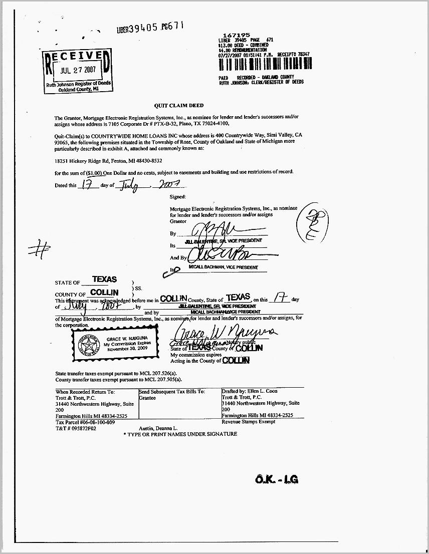 Grant Deed Form San Bernardino County